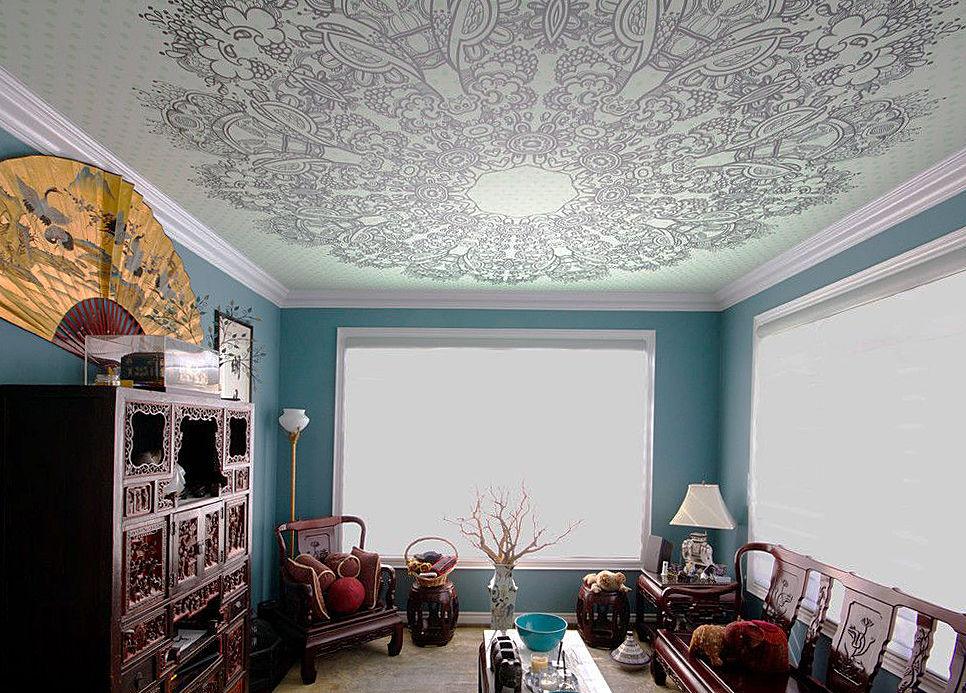 Натяжные потолки: яркий дизайн, многомерность, новые декоративные возможности