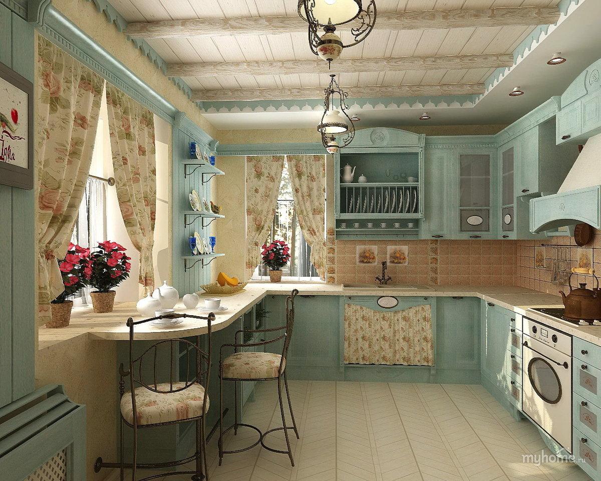 Кухни в стиле Прованс: особенности дизайна и примеры оформления
