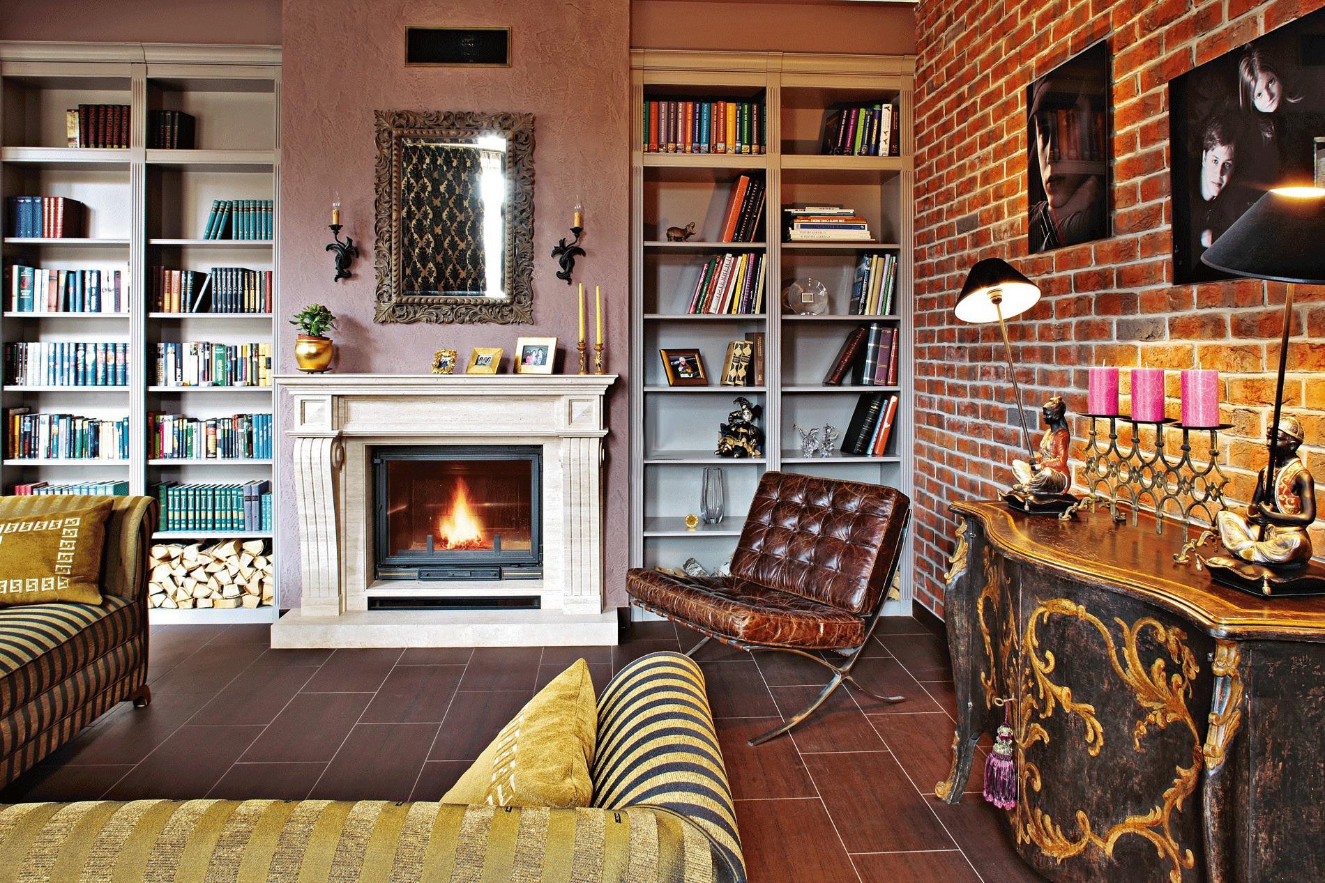 Домашний интерьер в стиле фьюжн
