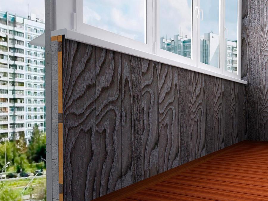 Использование МДФ панелей для обшивки балкона