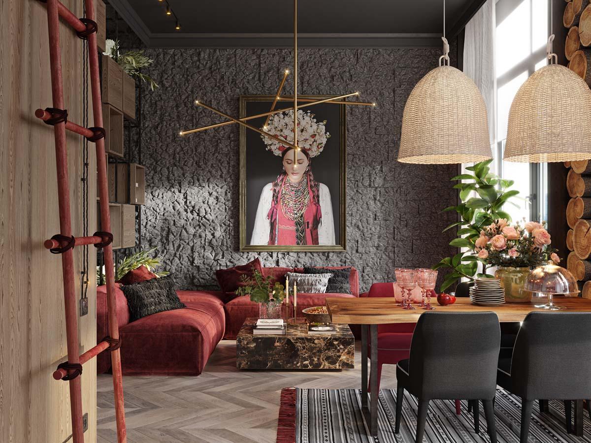 Деревенские мотивы в современном интерьере: фото-тур по киевской квартире