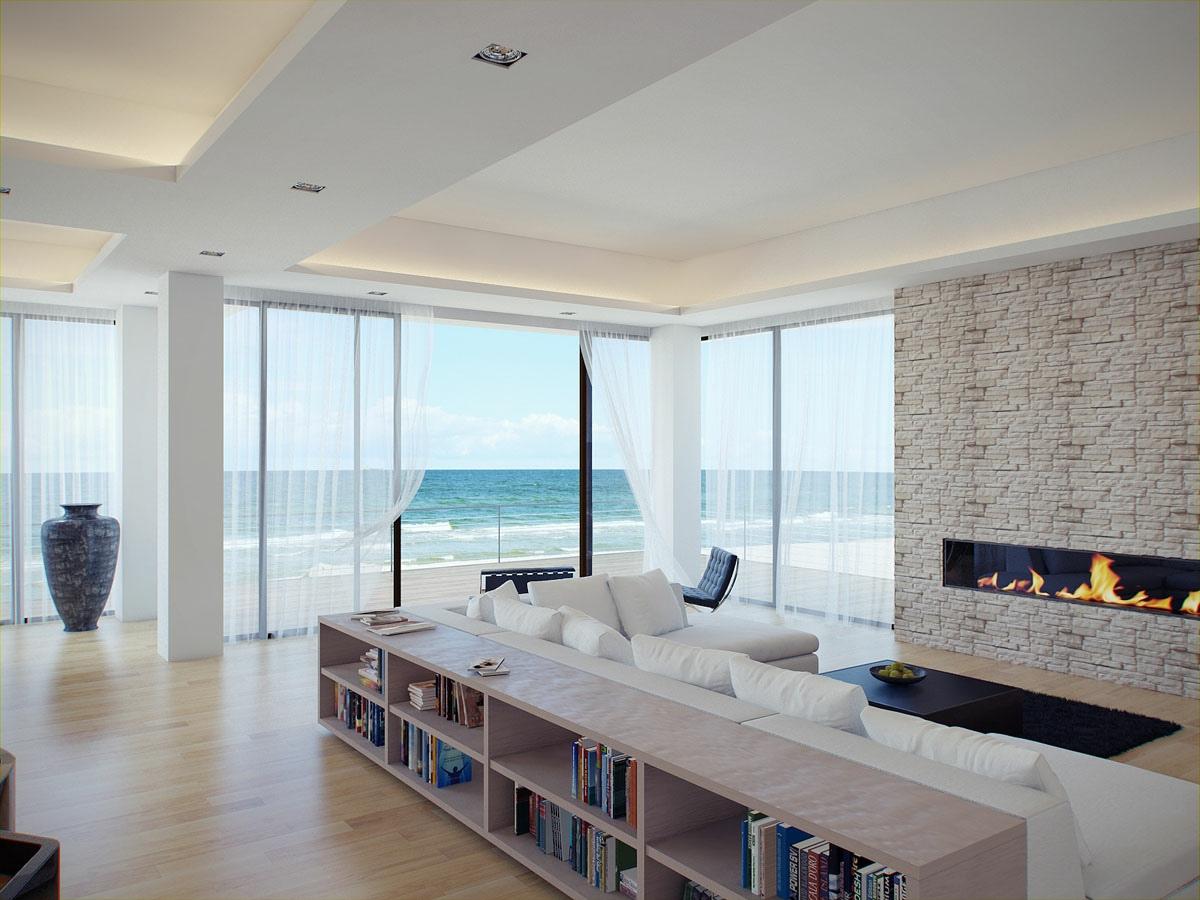Фотообзор современных гостиных с прекрасным видом