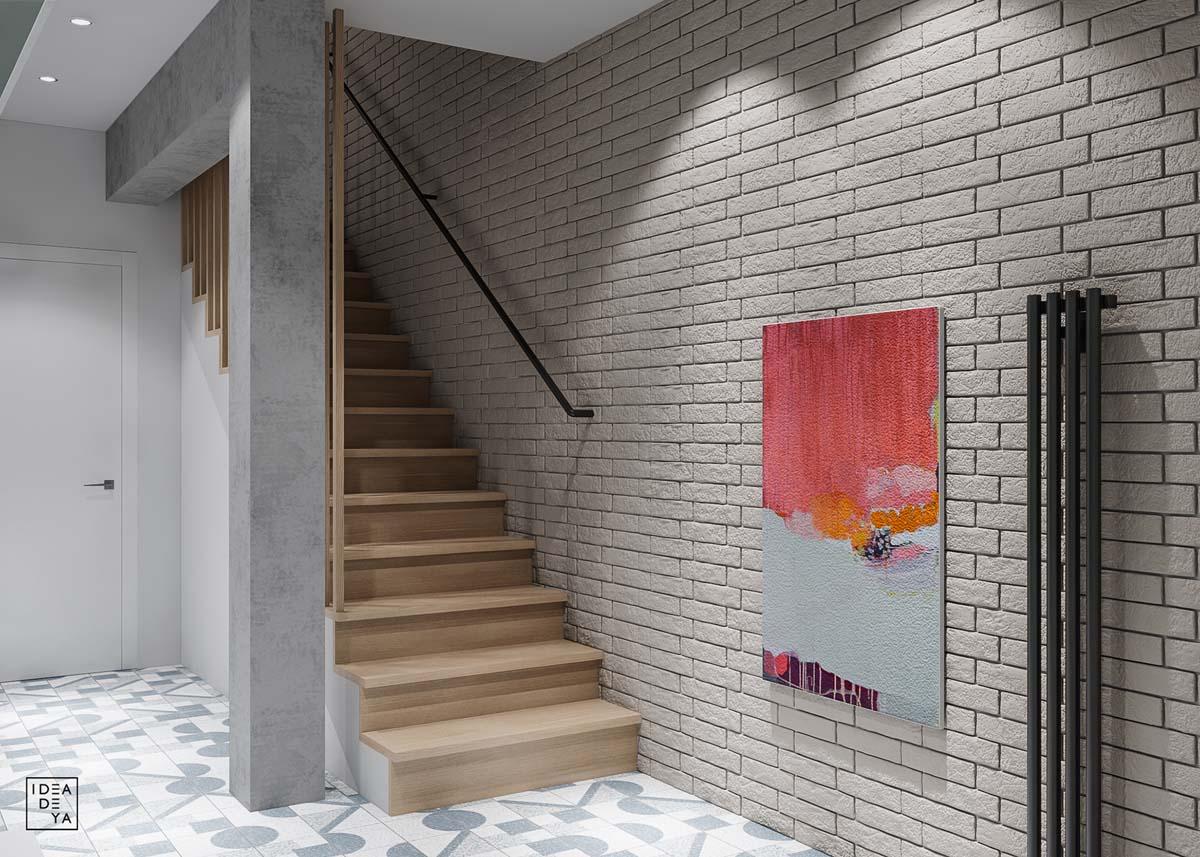 Фото-тур по дому с необычной планировкой и креативными цветовыми акцентами
