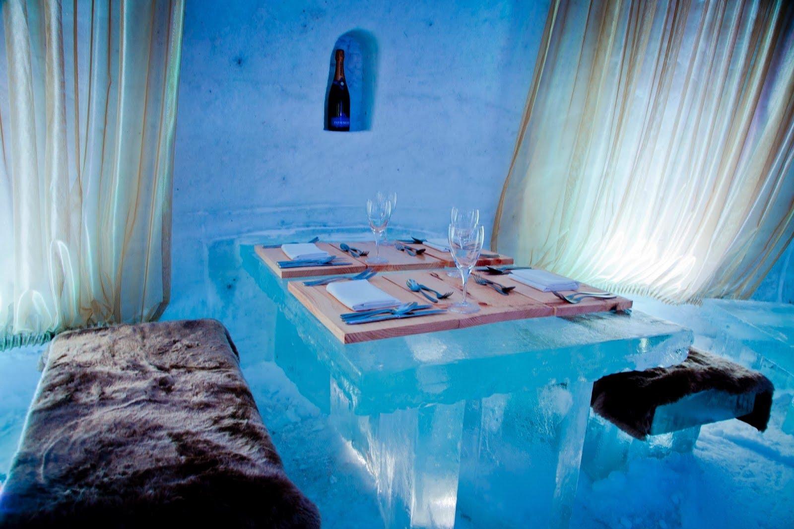 В Швеции открылся отель из льда