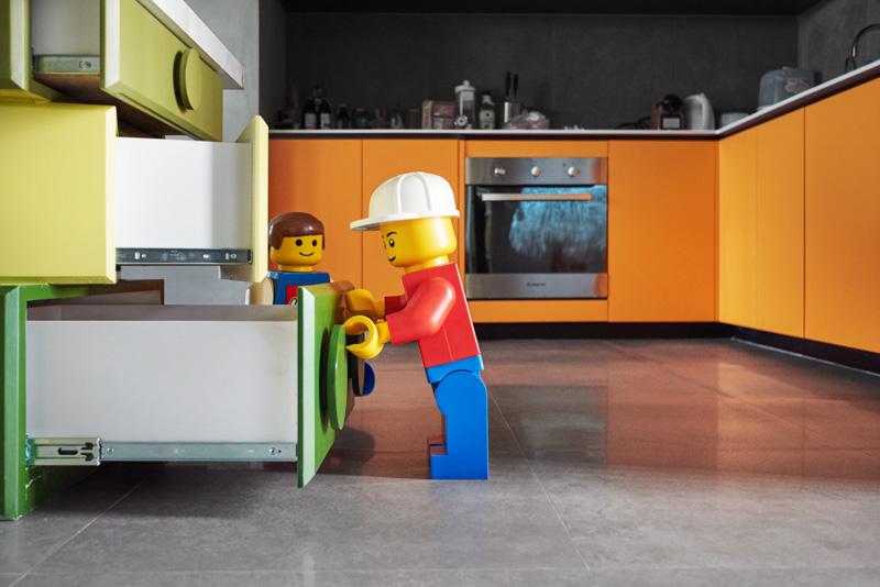 LEGO-дом: фотообзор невероятного тематического интерьера