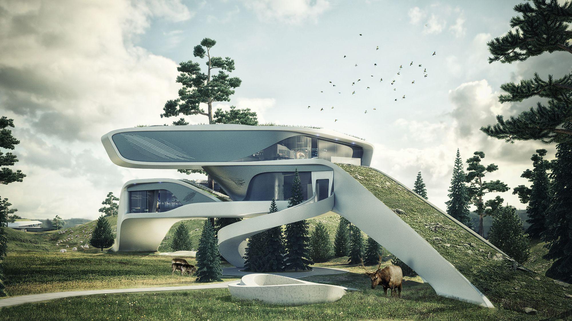 Рынок недвижимости Великобритании продал настоящее чудо - дом из будущего