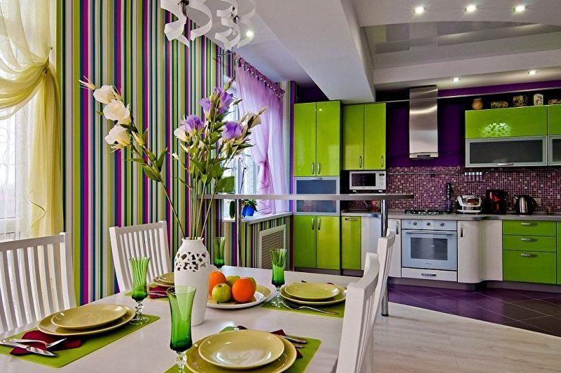 Выбор обоев и цветовое оформление кухни: идеи на фото