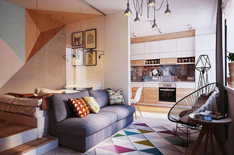 Как оформить квартиру-студию: фотообзор дизайнерских решений