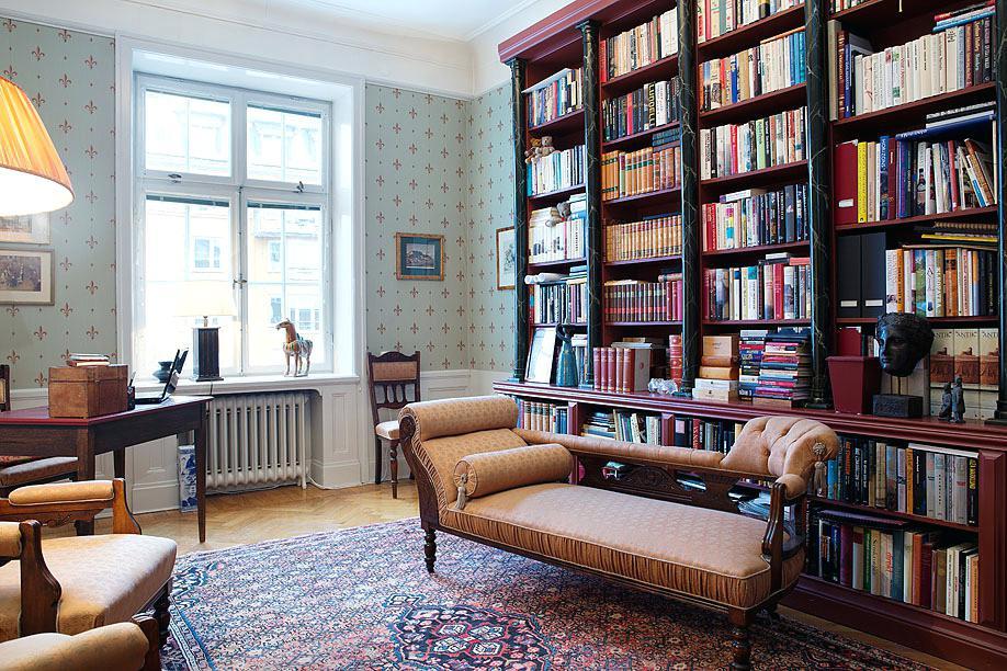 Библиотека в интерьере