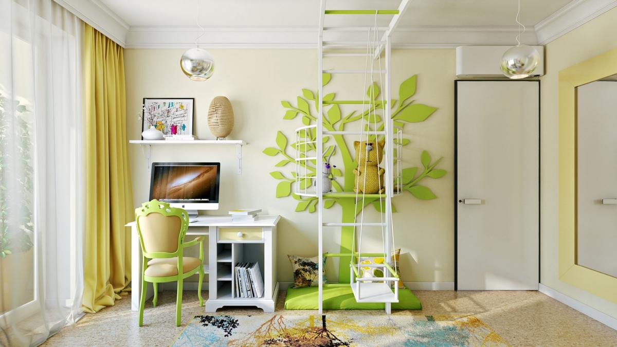 Причудливый декор в детской комнате: фотообзор