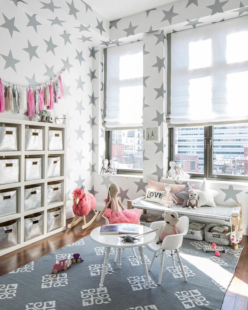 Оформление детской комнаты в белом цвете: фото-примеры