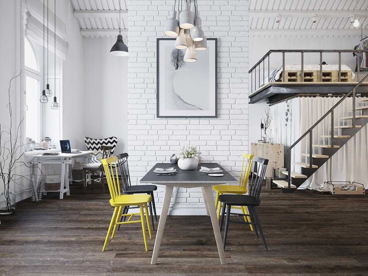 Фото-идеи для дизайна столовой в скандинавском стиле