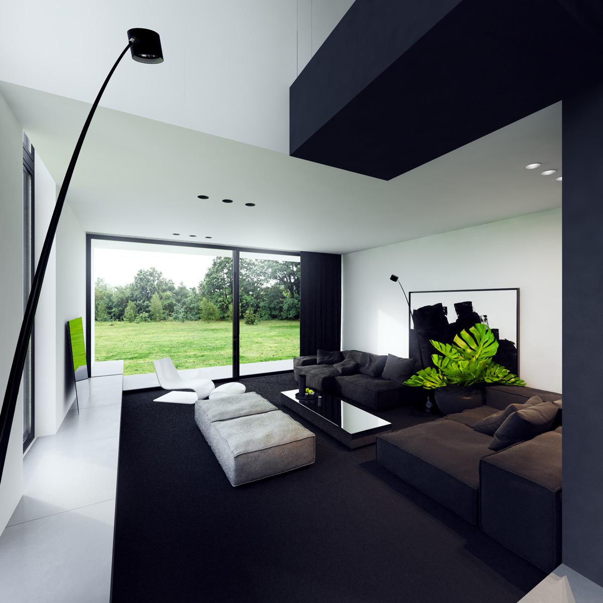 Великолепные гостиные в стиле минимализма: фотообзор