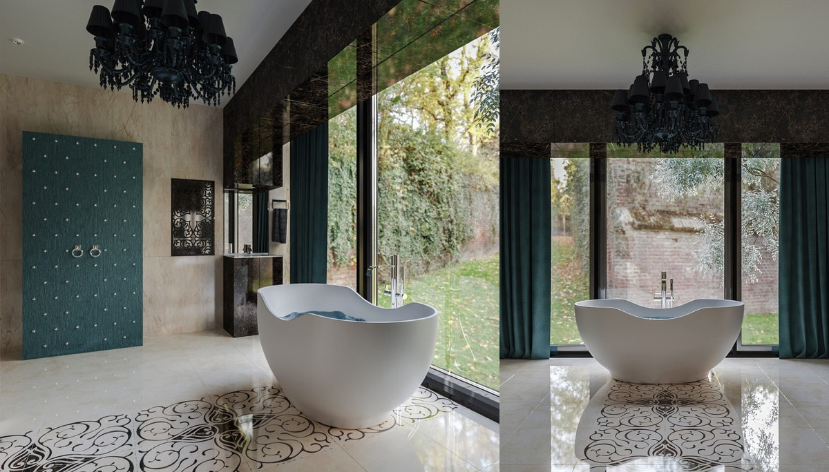 Пенная роскошь: фото-тур по дизайнерским ванным комнатам