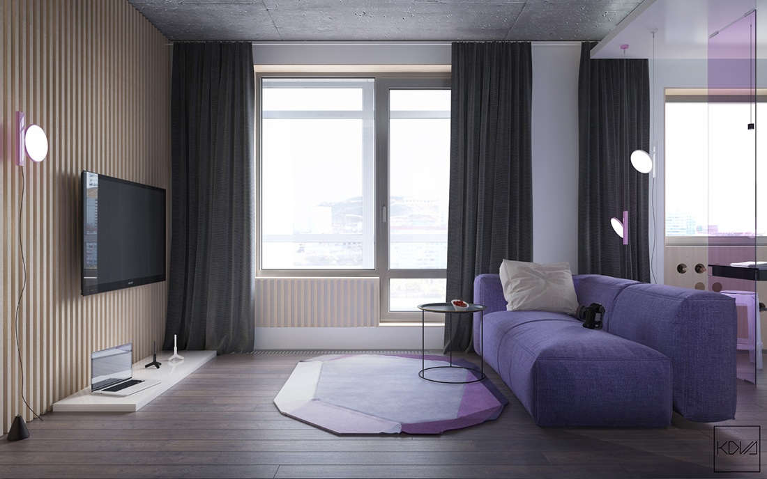 Большой декор в маленькой квартире: фотообзор смелого интерьера