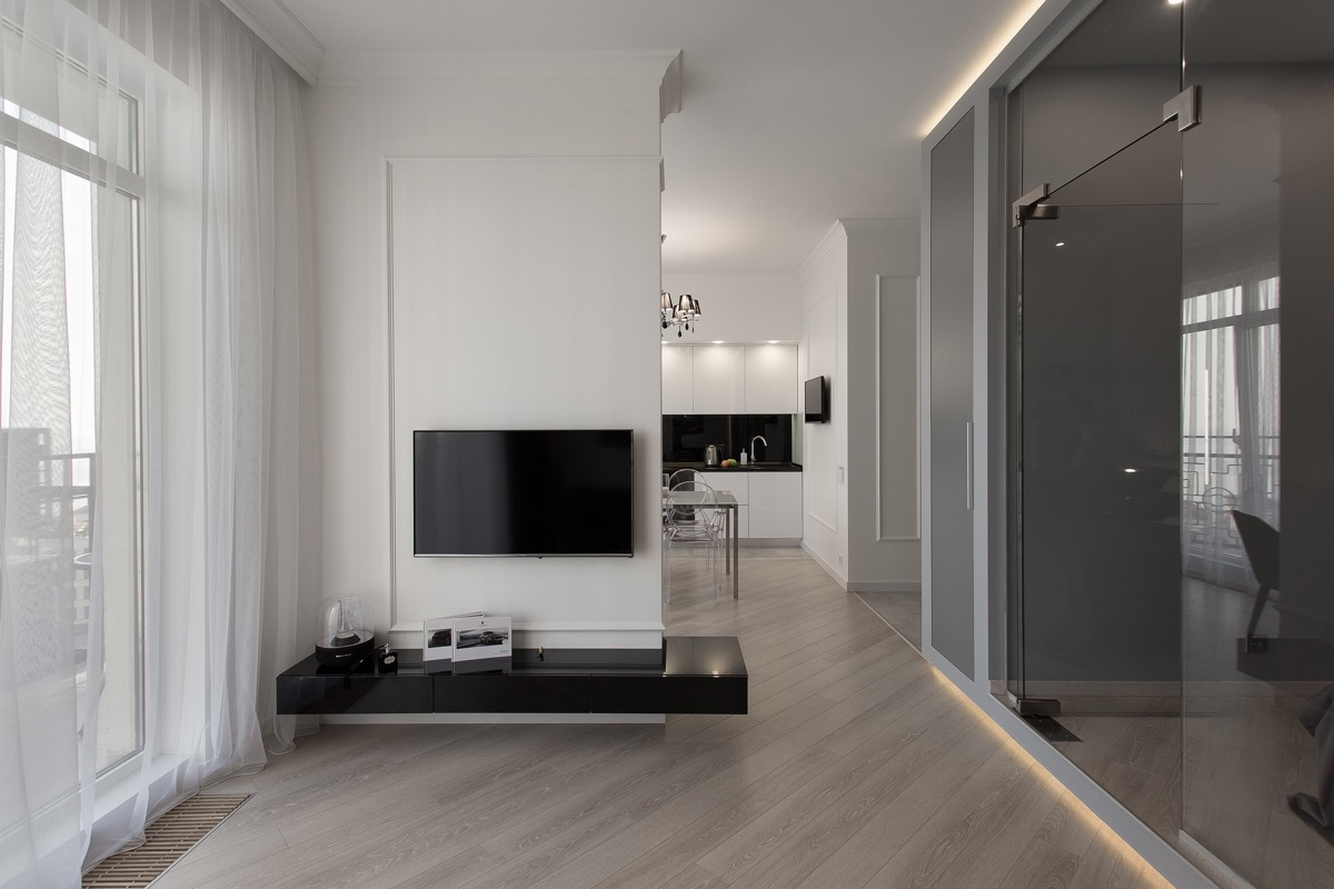 Черно-белое совершенство на примере стильной квартиры: фотообзор