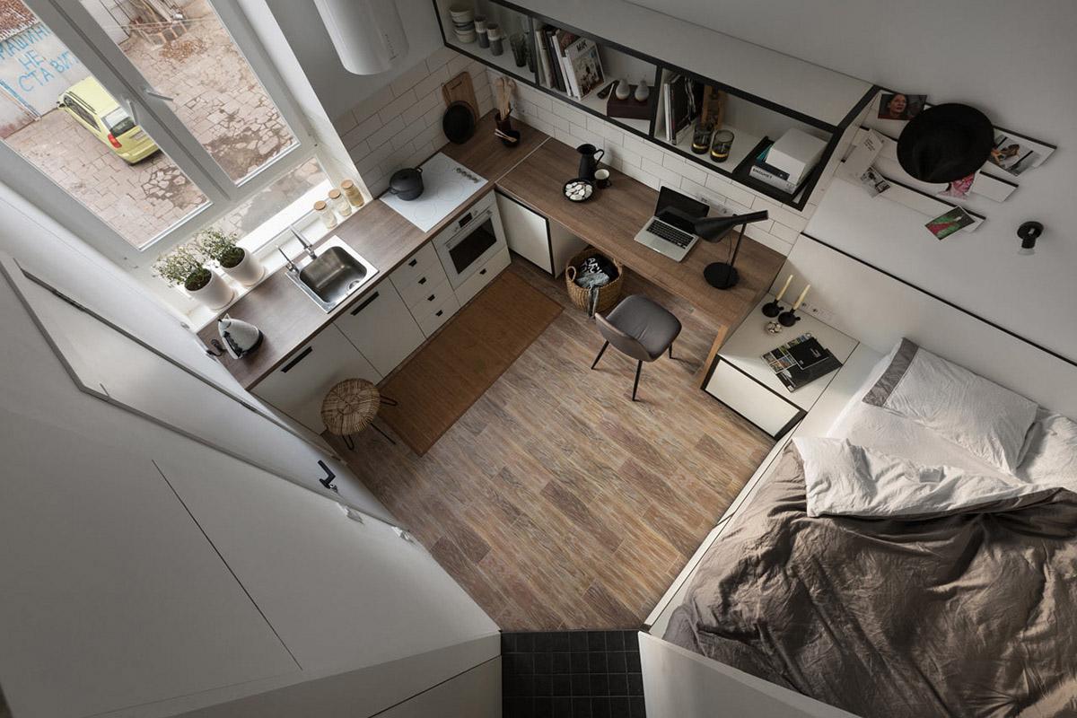 Вызов принят! Проектирование жилой площади до 18 кв. метров: фотообзор