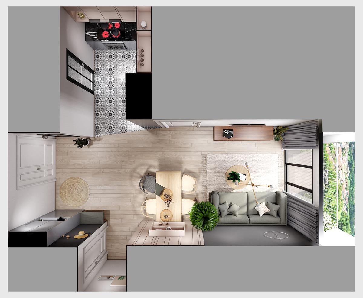 3 варианта планировки квартиры с пастельным декором: фотообзор