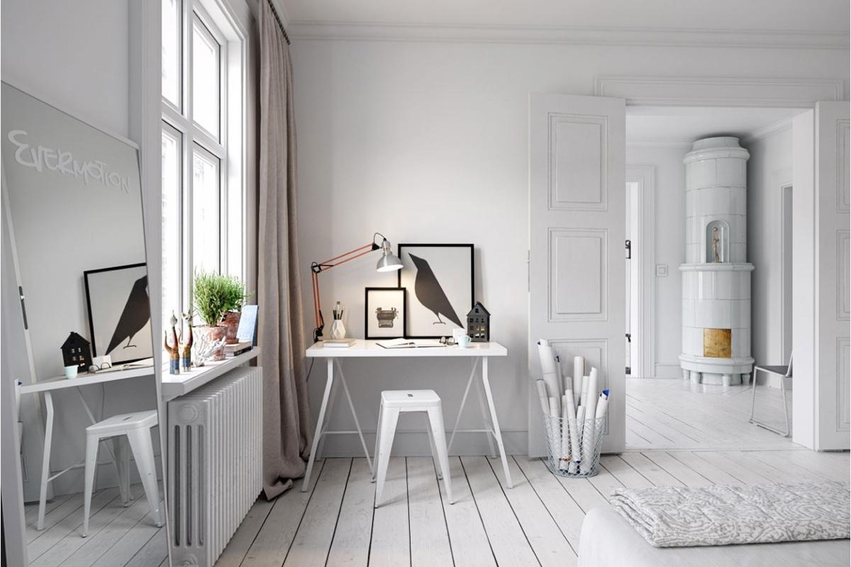 25 потрясающих рабочих мест в скандинавском стиле: фотообзор