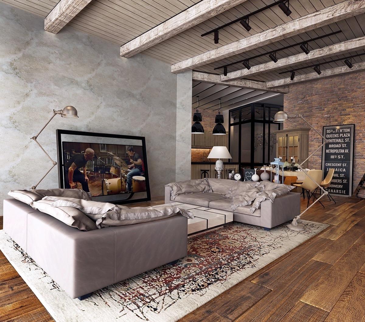 Фото-руководство для проектирования гостиной в деревенском стиле