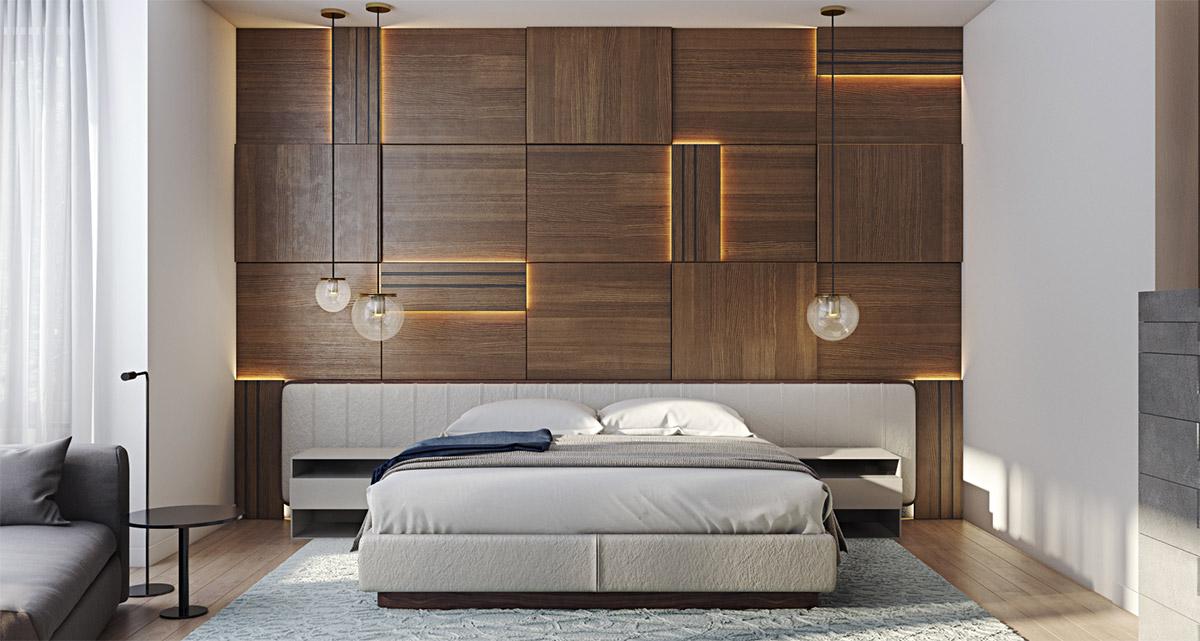 Лучшие фото-идеи для дизайна акцентной стены в спальне
