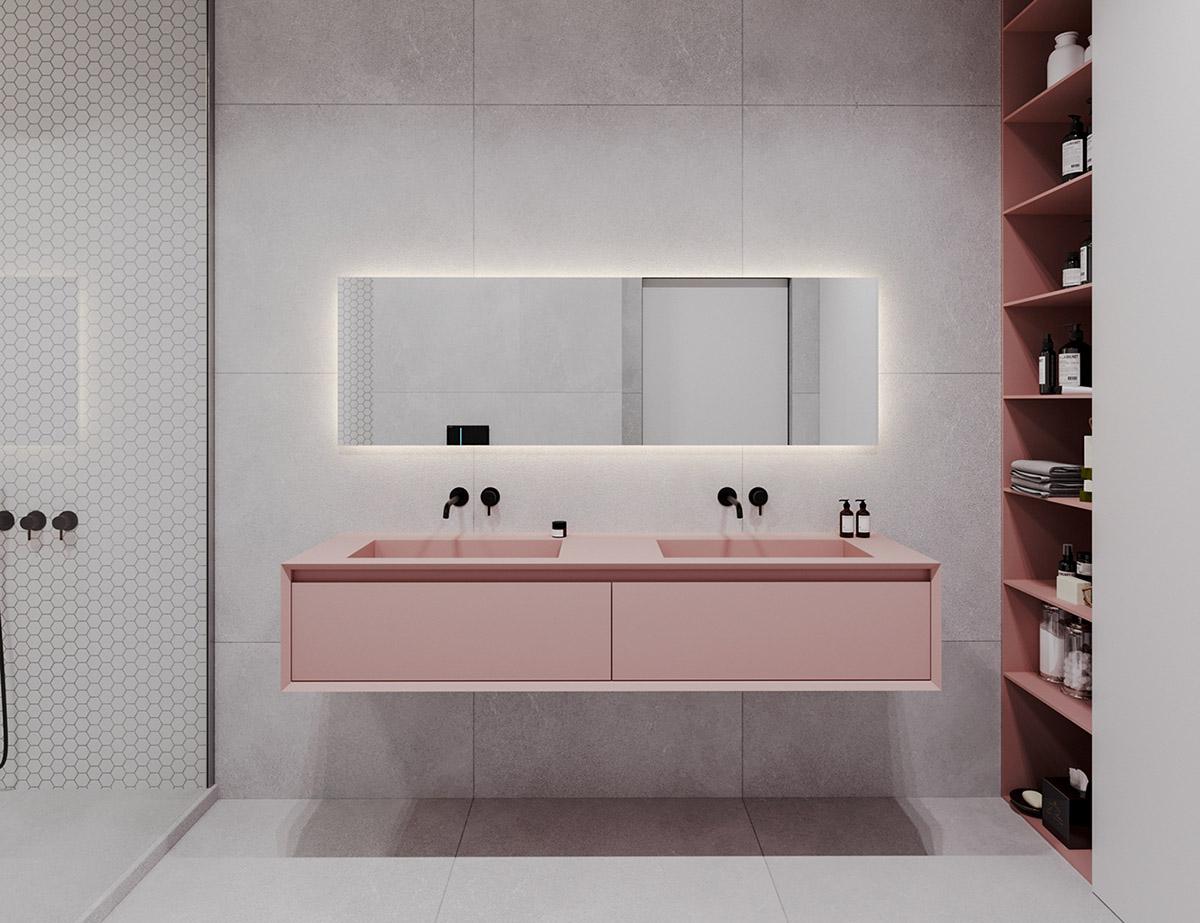 Зеленый и Розовый Цвет в качестве Декора: фотообзор дизайнерского интерьера