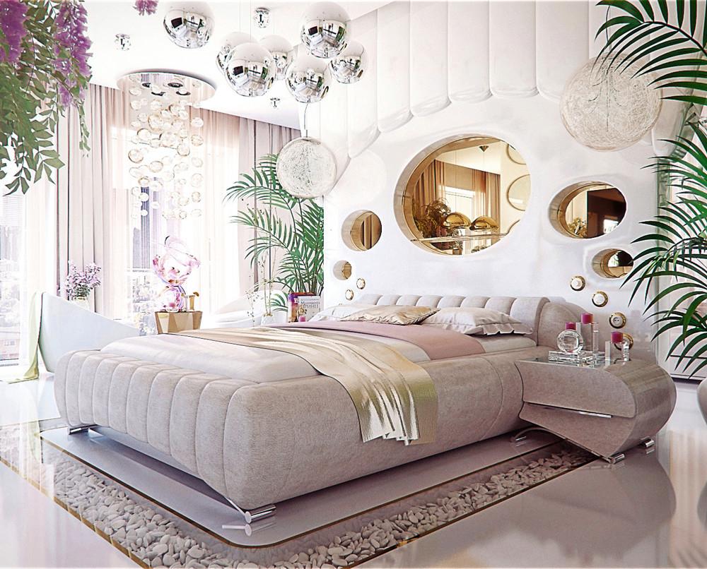 Уникальный диазайн: фотообзор фантастической спальни