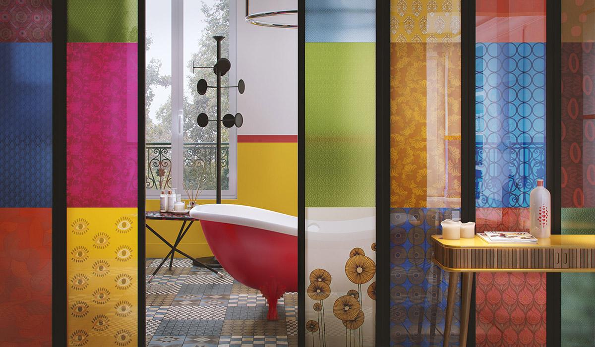 Причудливый интерьер с красочным декором: фотообзор