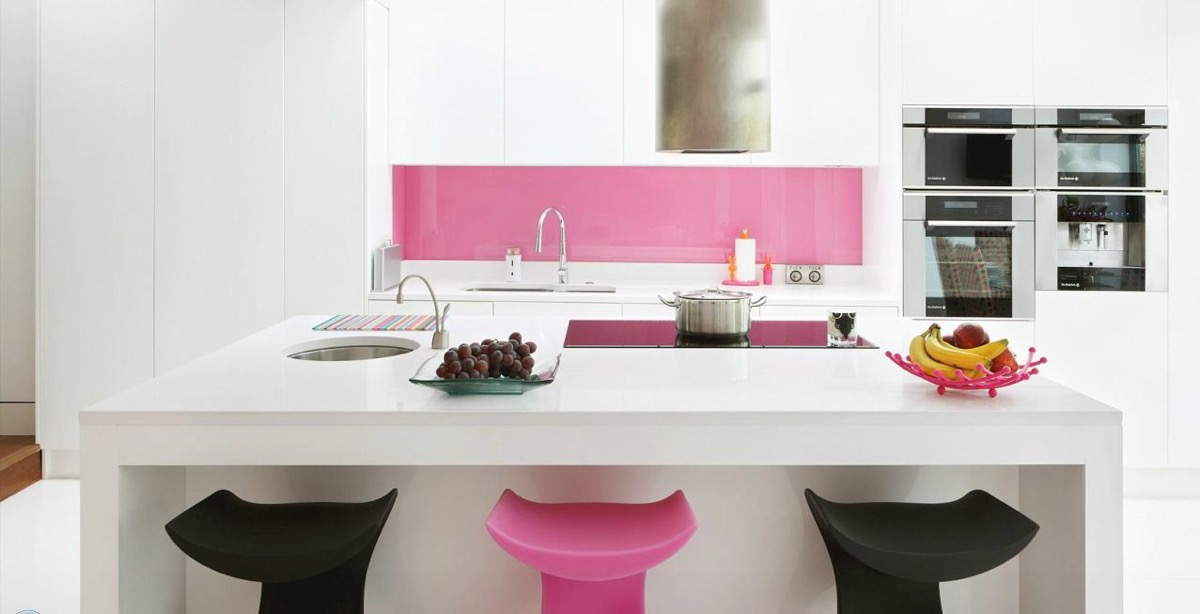 Великолепные Розовые Кухни: дизайнерский фото-совет