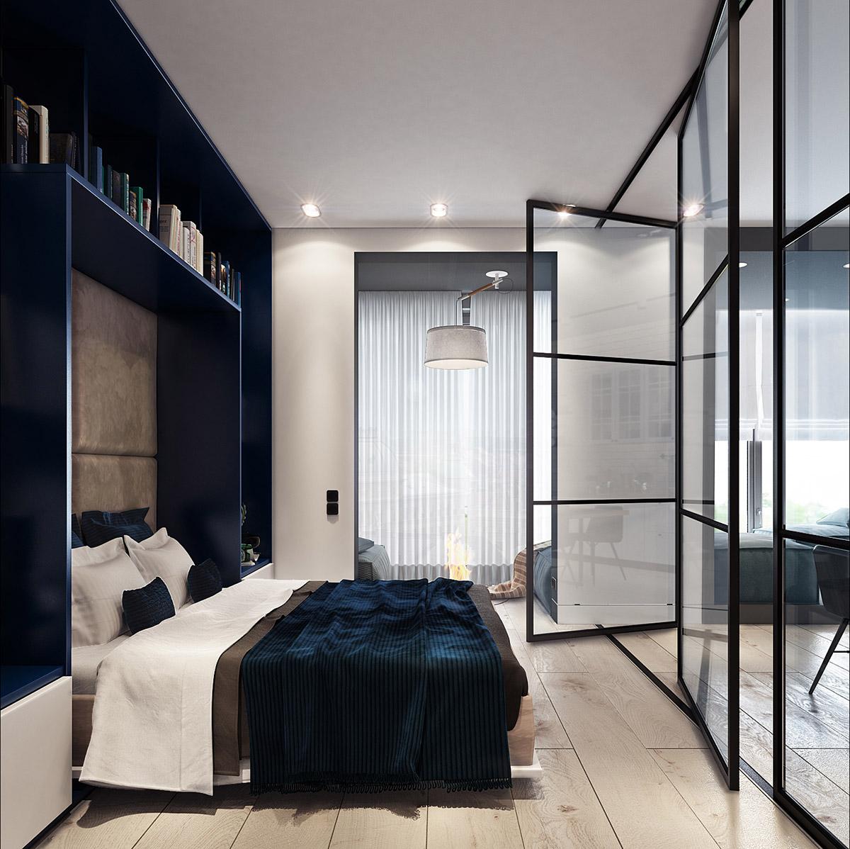 Синий оазис минимализма: фото-тур по двум компактным и стильным квартирам
