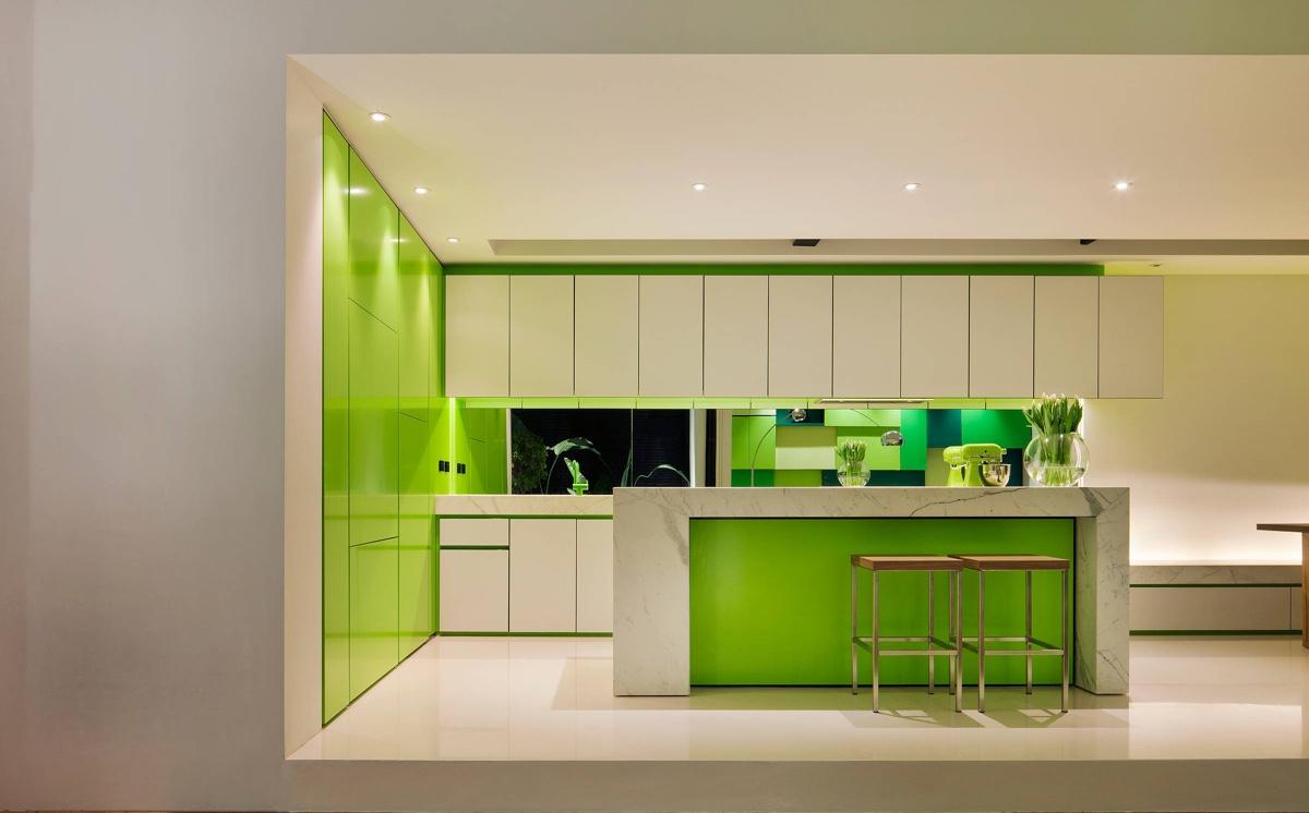 Великолепные Зеленые Кухни: фото-коллекция стильных интерьеров