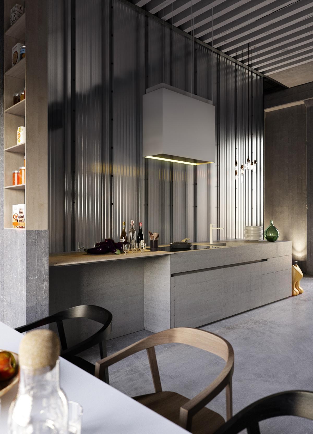 Великолепные Серые Кухни: фото-коллекция стильных интерьеров