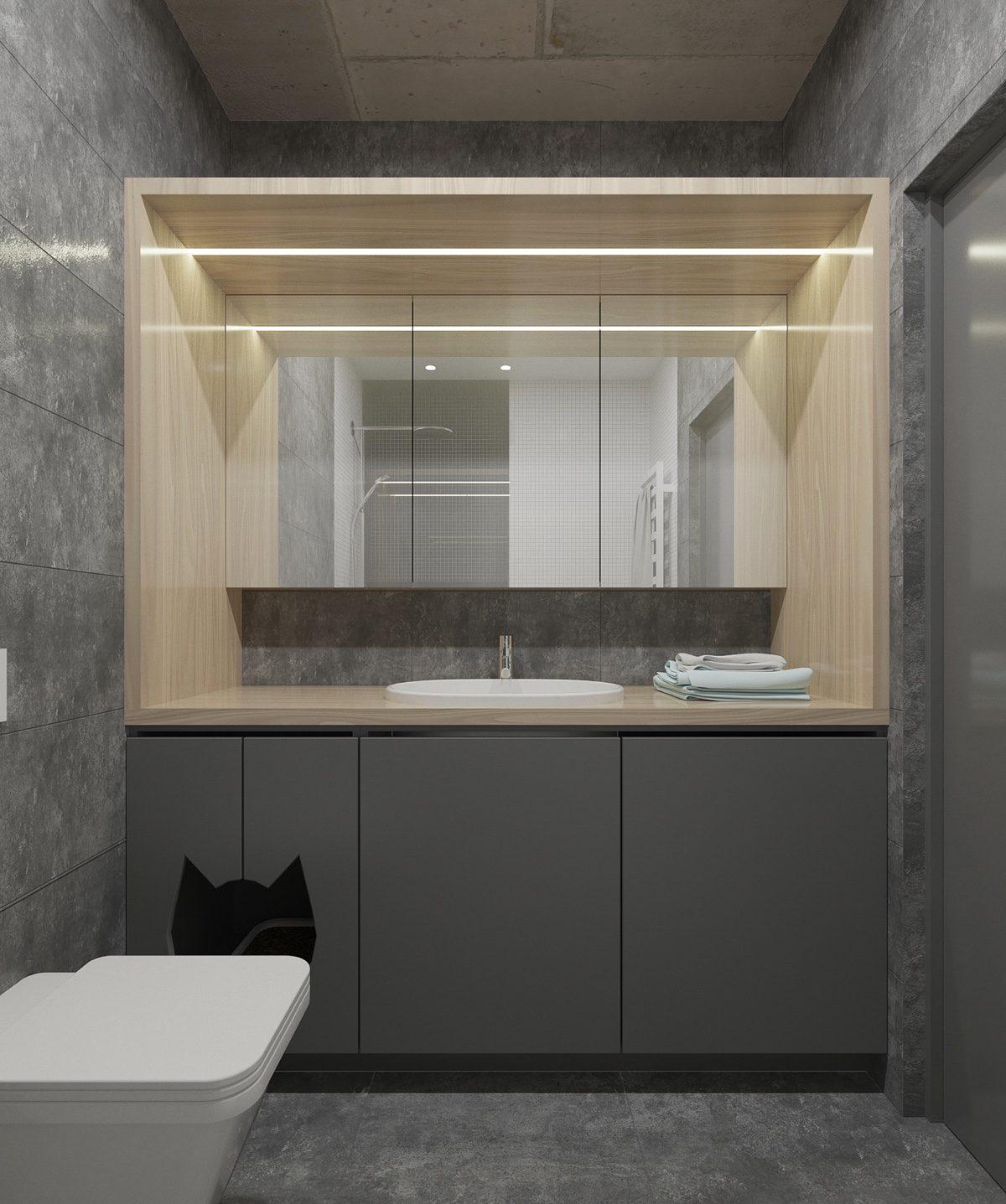 Стильные однокомнатные квартиры открытого плана: фотообзор