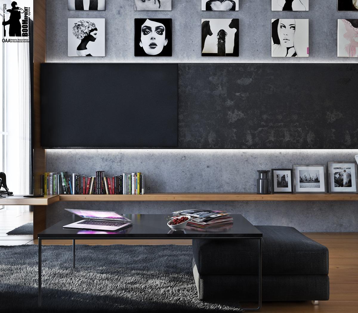 Художественные апартаменты с монохромной цветовой гаммой: фотообзор