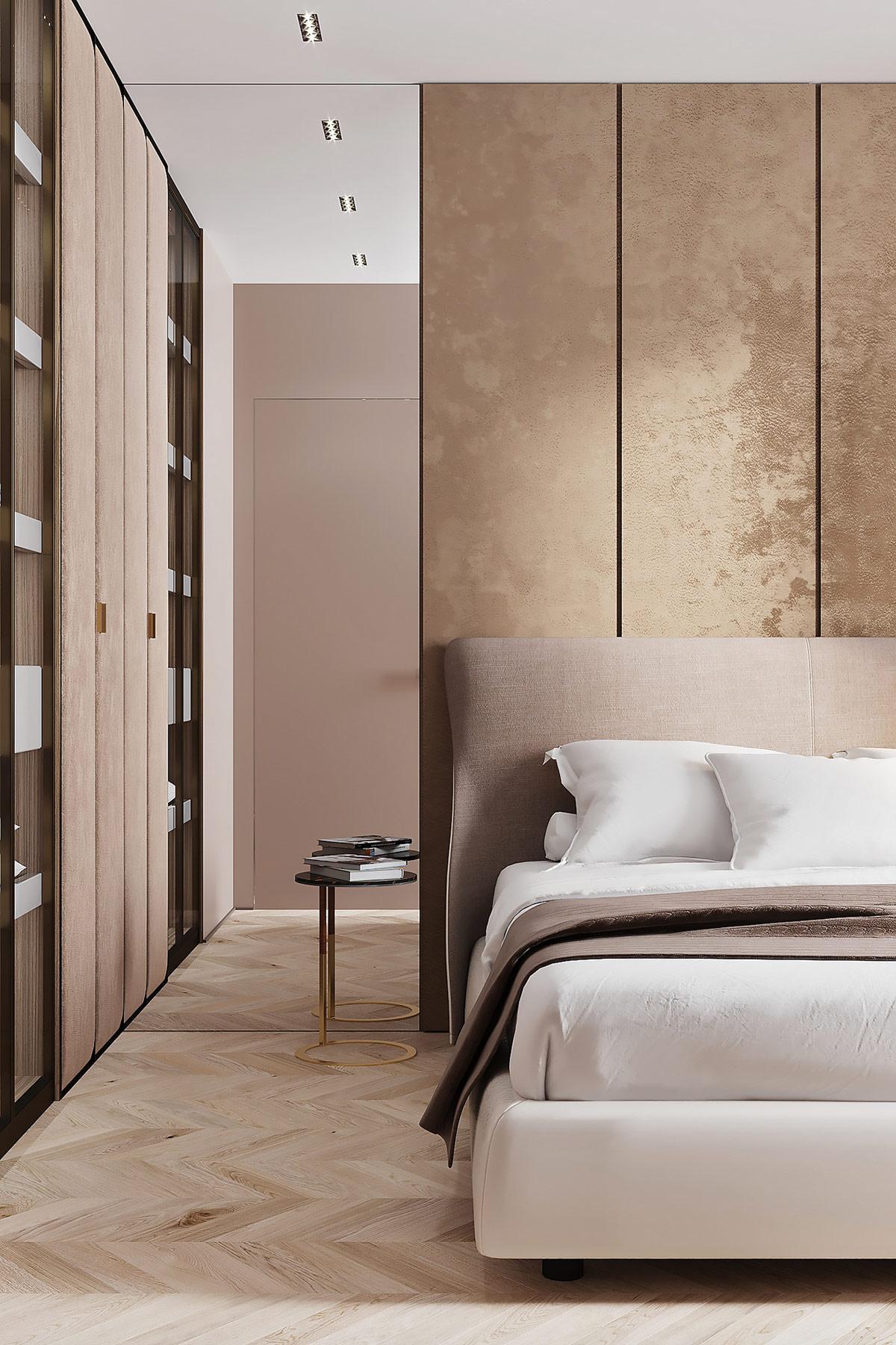 Дерево, Мрамор и Золото в интерьере: фотообзор роскошной квартиры