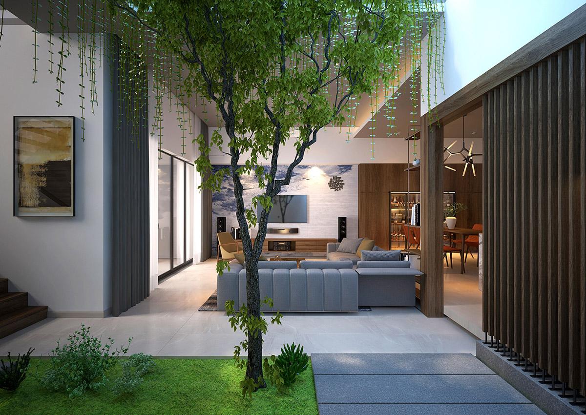 2 дома с Зелеными Внутренними Двориками: фотообзор
