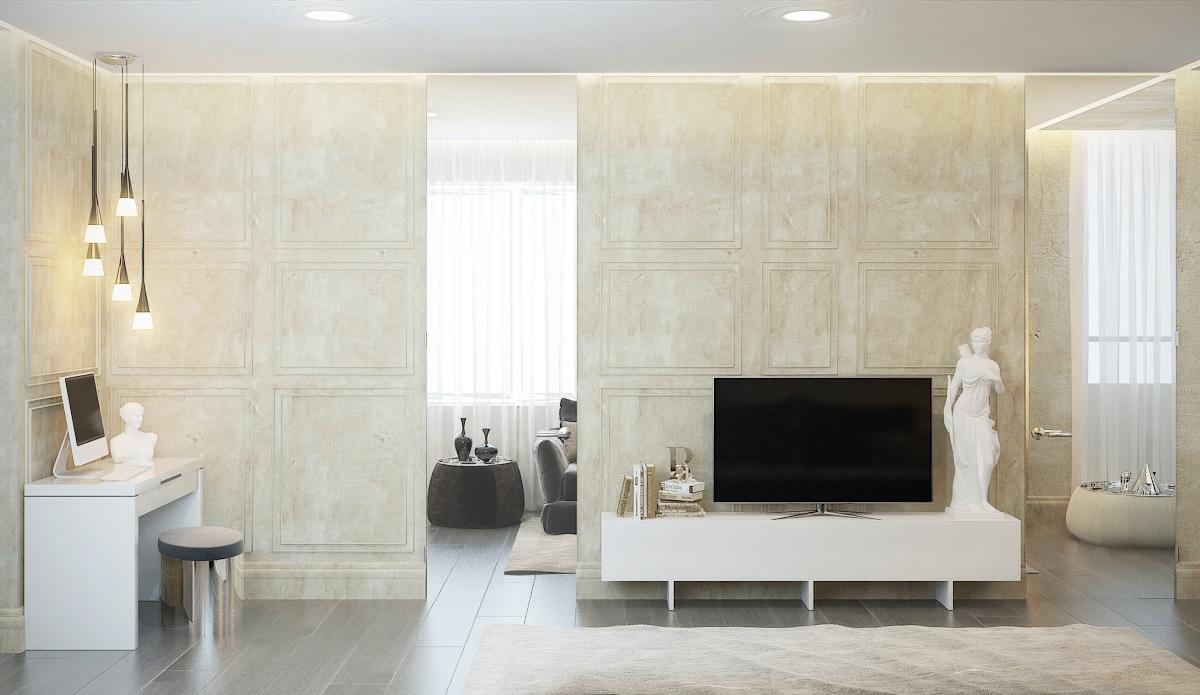 Современный дизайн квартиры с классическими элементами: Фотообзор