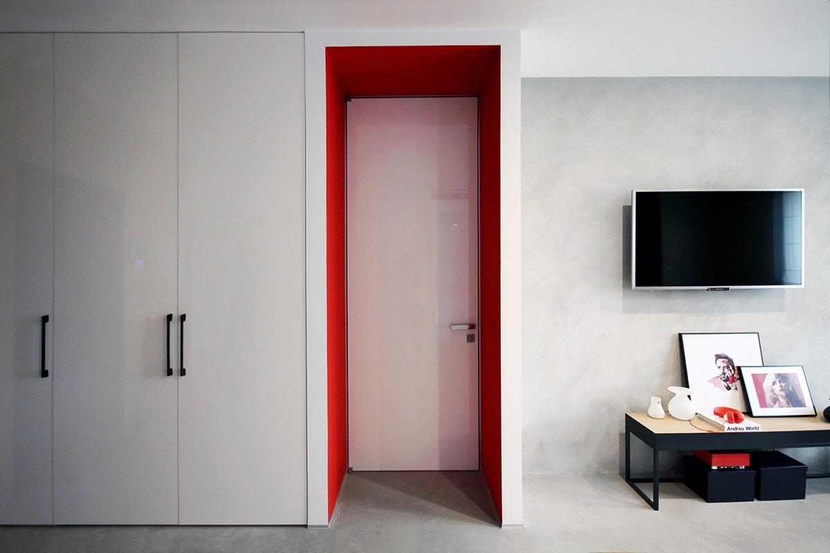 Красный и синий: Фотообзор двух красочных интерьеров