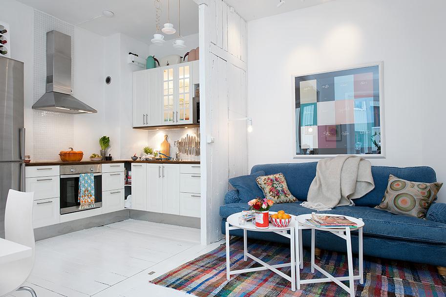 Светлая Шведская Квартира с Раритетами: Фотообзор