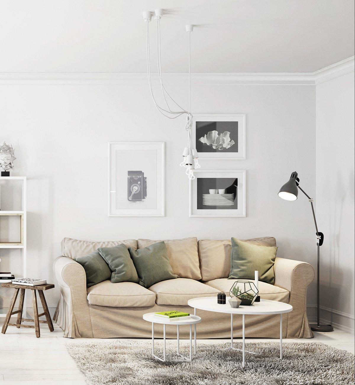 Два ярких интерьера в скандинавском стиле: Фотообзор
