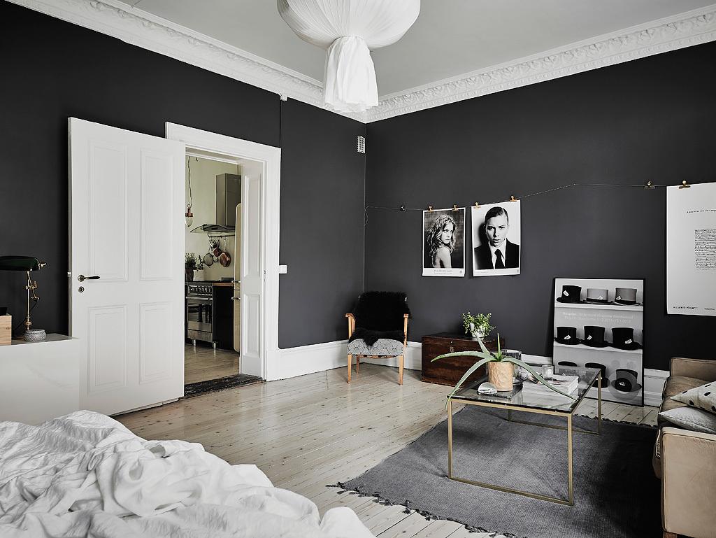 Черно-белый скандинавский интерьер: Фотообзор монохромного пространства