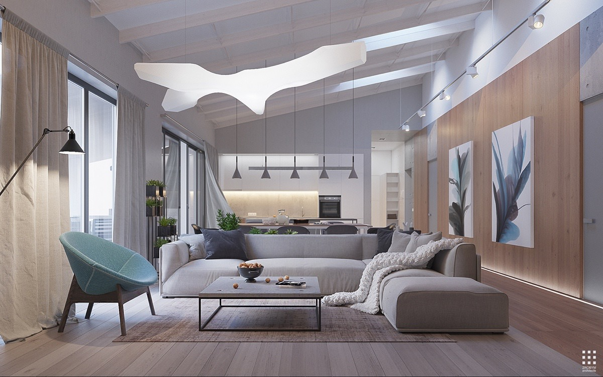 Воздушный дом, который использует бетон: Фотообзор