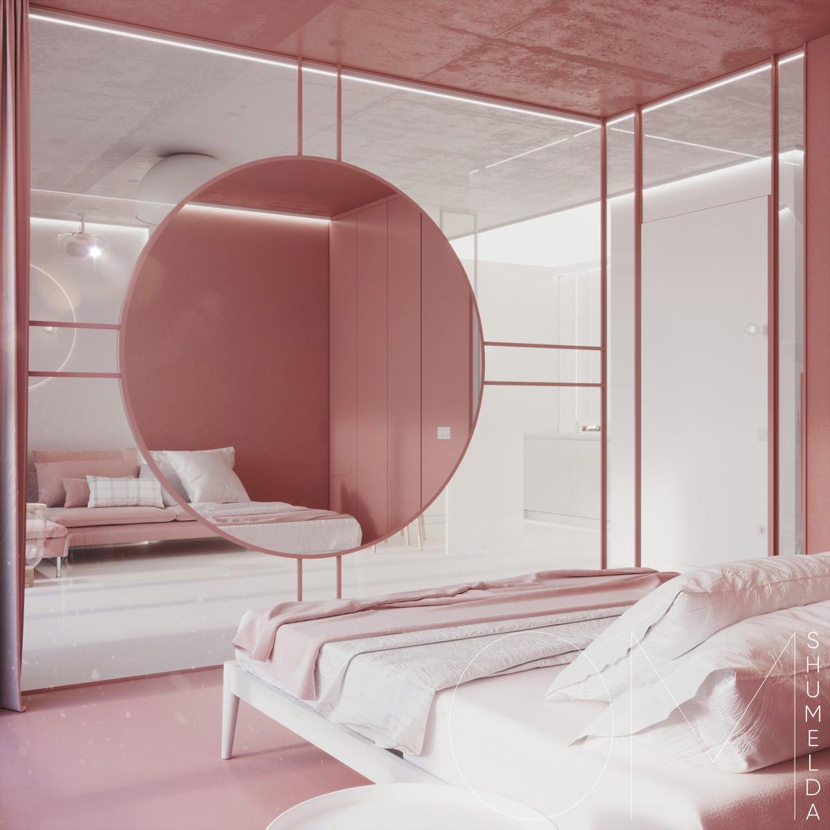 Розово-серое дизайнерское вдохновение: Фотообзор
