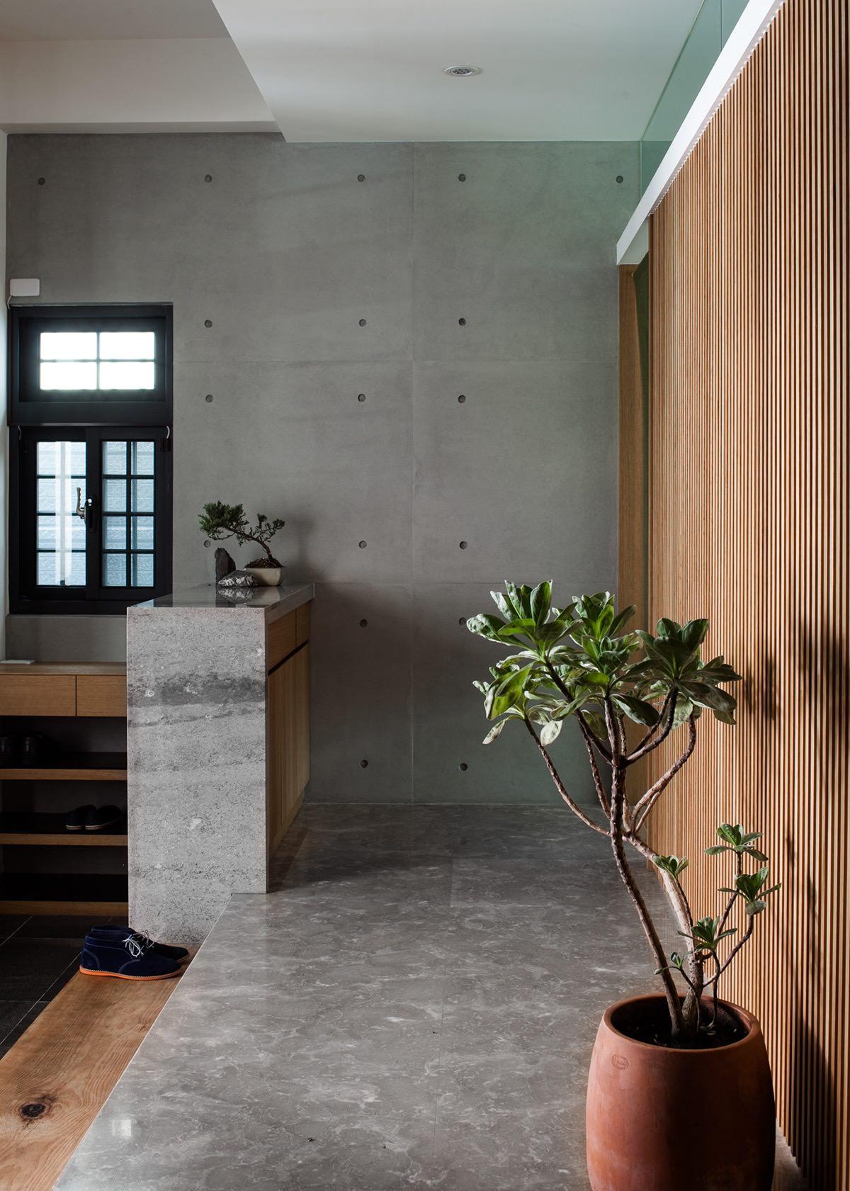Минималистский дом в китайском стиле с крытым двором: Фотообзор