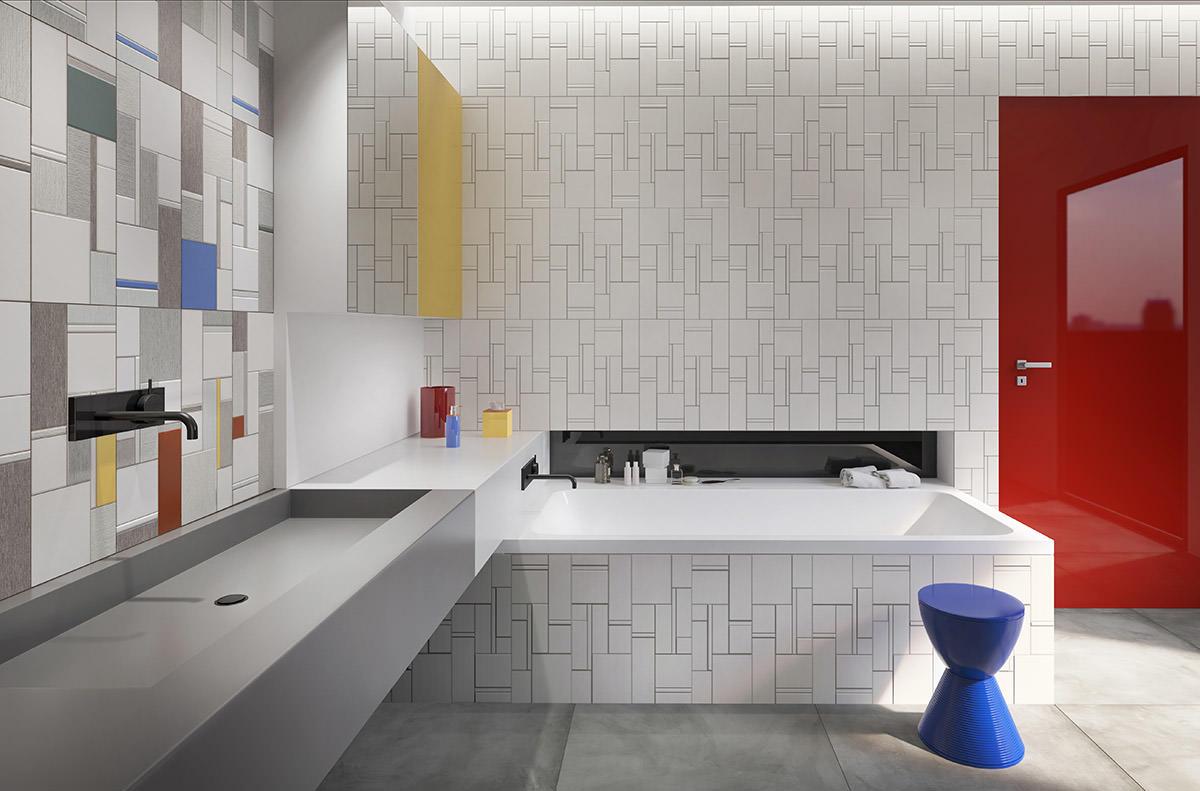 Кубизм в Интерьере, вдохновленный Питом Мондрианом: Фотообзор