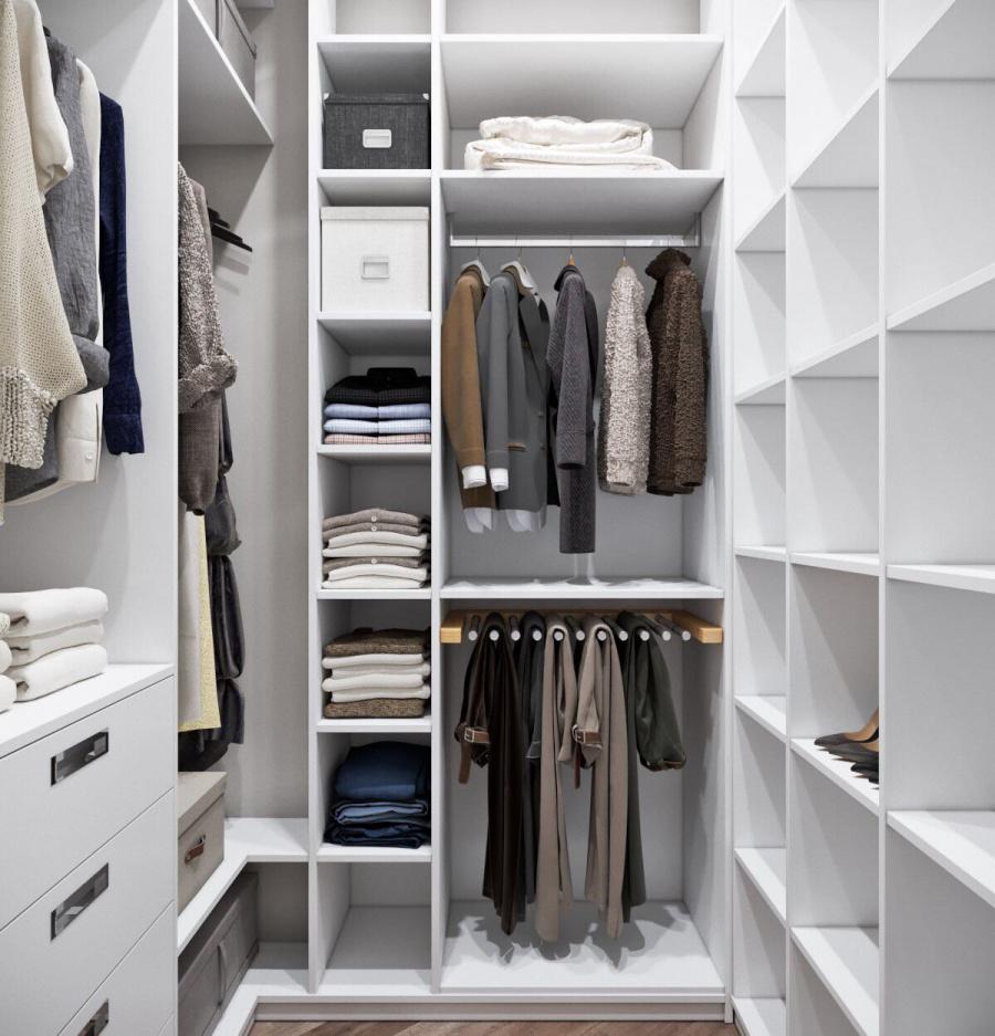 Гардеробная комната: виды планировки, советы по обустройству и дизайну