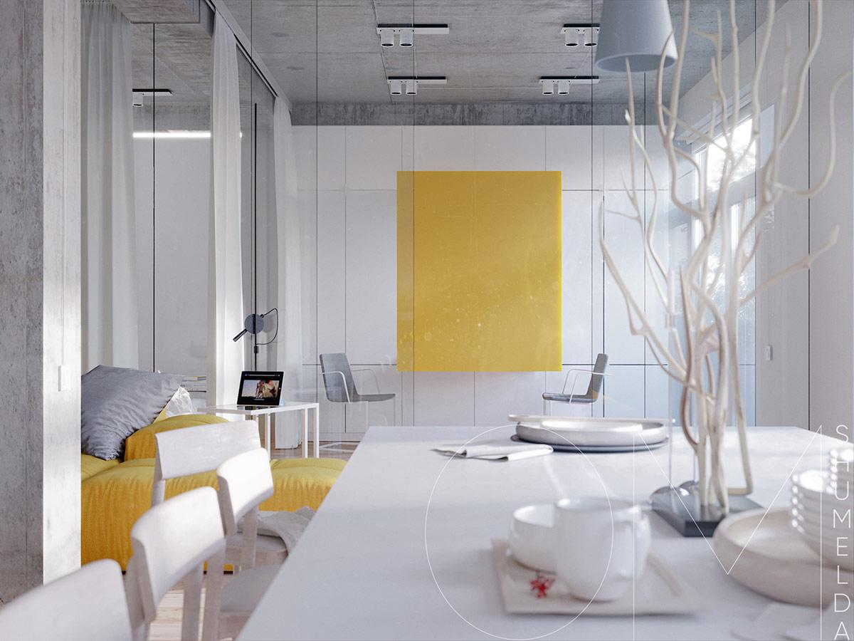 Солнечный минимализм: Фотообзор двух современных интерьеров