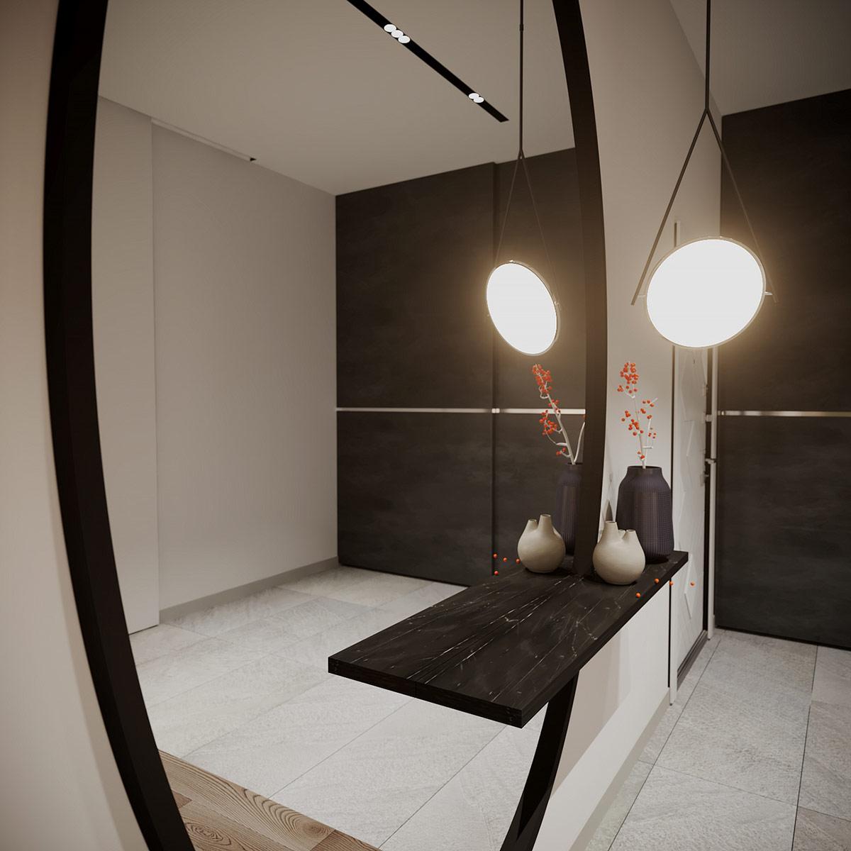 Интерьер класса люкс с блестящими темными акцентами: Фотообзор