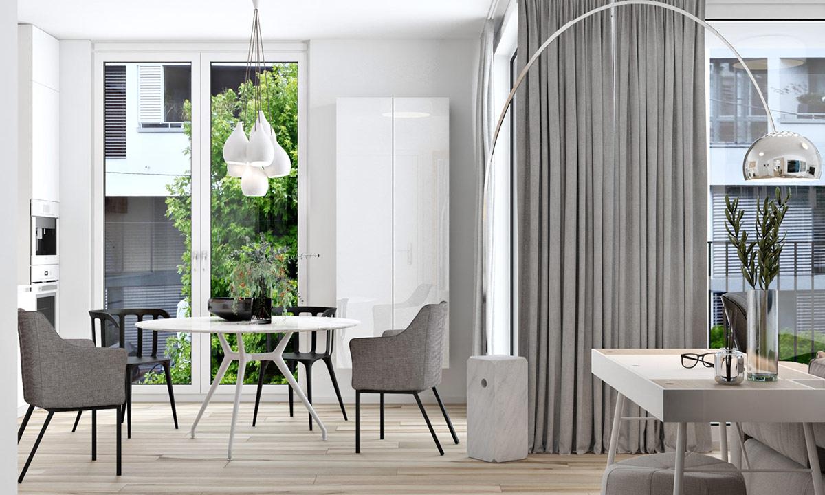 Компактные квартиры, которые максимально используют белый: Фотообзор