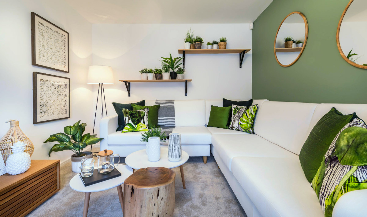 Каким цветом оформить гостиную: Фотоколлекция зеленых интерьеров